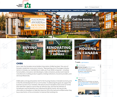 Canadian Home Builders' Association powers their website with iMIS CMS