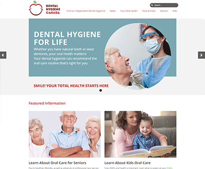 Canadian Dental Hygienists Association powers their website with iMIS CMS