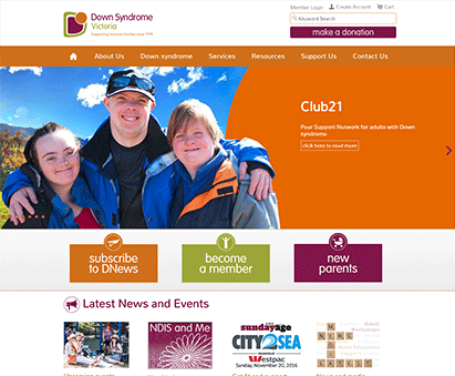 Down Syndrome Victoria powers their website with iMIS CMS