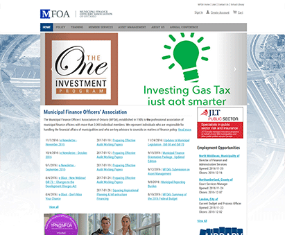 Municipal Finance Officers' Association of Ontario powers their website with iMIS CMS
