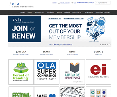 Ontario Library Association powers their website with iMIS CMS