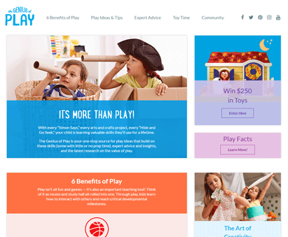 The Genius of Play from the Toy Industry Association powers their website with iMIS CMS