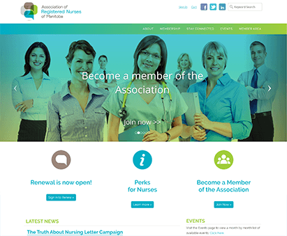 Association of Registered Nurses of Manitoba powers their website with iMIS CMS