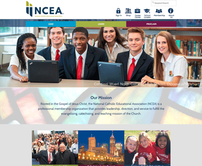 National Catholic Educational Association powers their website with iMIS CMS