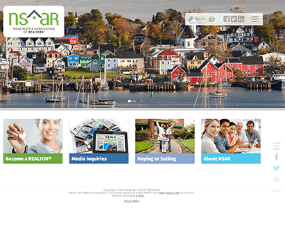 Nova Scotia Association of Realtors powers their website with iMIS CMS