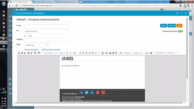 Watch the iMIS Email Marketing Video