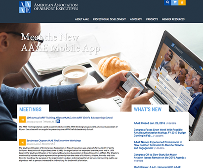American Association of Airport Executives powers their website with iMIS CMS