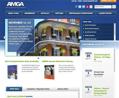 American Medical Group Association powers their website with iMIS CMS