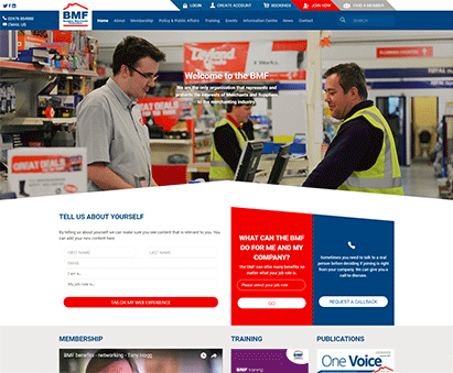 The Builders Merchants Federation powers their website with iMIS CMS