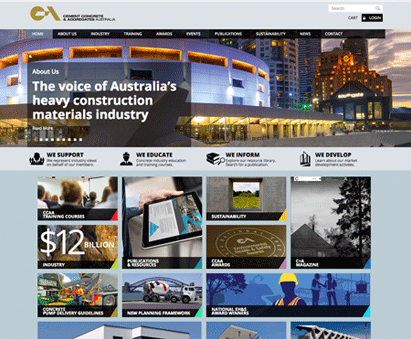 Cement Concrete and Aggregates Australia powers their website with iMIS CMS