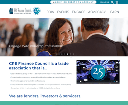 Commercial Real Estate Finance Council powers their website with iMIS CMS
