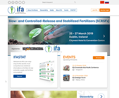 International Fertilizer Association powers their website with iMIS CMS