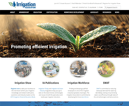 Irrigation Association powers their website with iMIS CMS