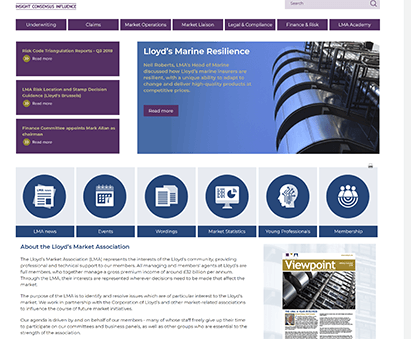 Lloyds Market Association powers their website with iMIS CMS