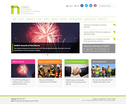 National Association of Women in Construction powers their website with iMIS CMS