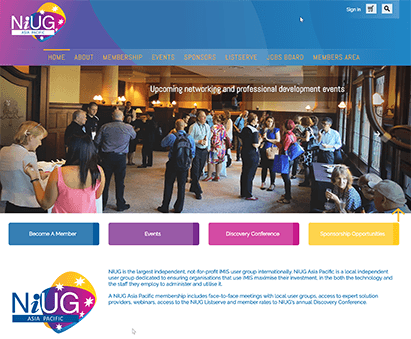 NiUG Asia-Pacific powers their website with iMIS CMS