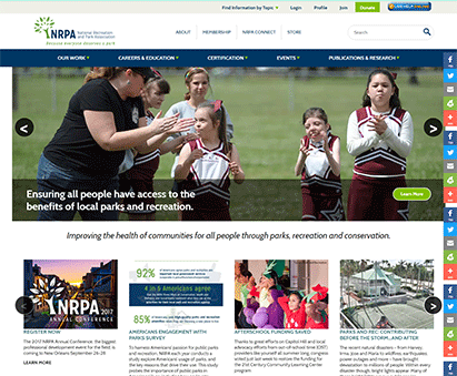 National Recreation and Park Association powers their website with iMIS CMS