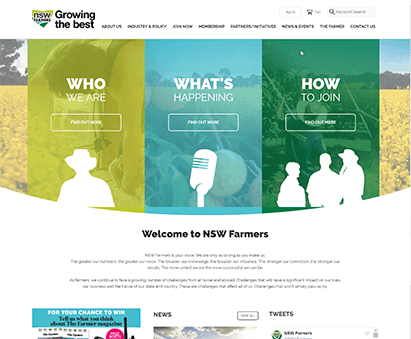 NSW Farmers powers their website with iMIS CMS