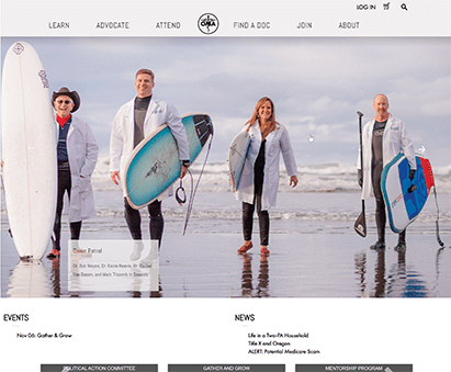 Oregon Medical Association powers their website with iMIS CMS