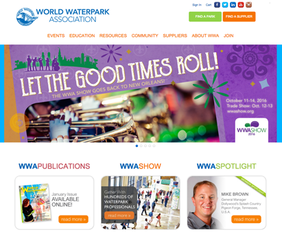 World Waterpark Association powers their website with iMIS CMS