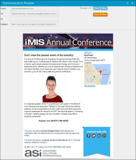 iMIS Communications Creator