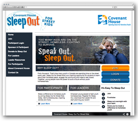 Covenant House - Sleep Out